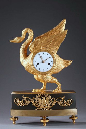 Swan clock of French Empire period - Clocks Style Empire