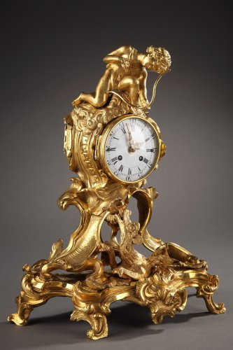 Pendule Louis XV au Dragon et angelot