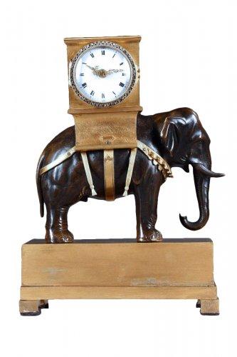French Empire ormolu clock