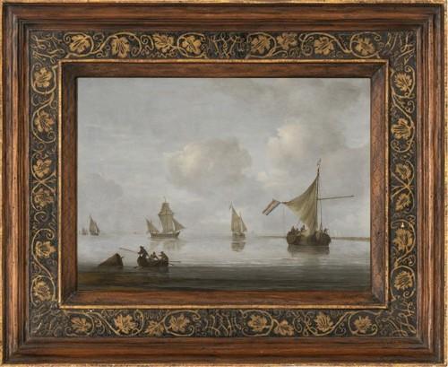 Arnoldus van ANTHONISSEN (1631-1703) - Vessels at anchor - Paintings & Drawings Style