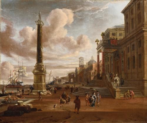 jacobus STORCK (Amsterdam 1641-1692/1699)  Mediterranean harbour