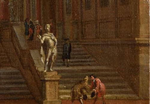 jacobus STORCK (Amsterdam 1641-1692/1699)  Mediterranean harbour  - Paintings & Drawings Style