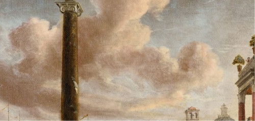 Paintings & Drawings  - jacobus STORCK (Amsterdam 1641-1692/1699)  Mediterranean harbour