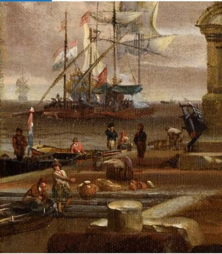 jacobus STORCK (Amsterdam 1641-1692/1699)  Mediterranean harbour  -