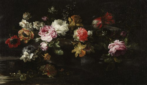 Margherita CAFFI (1647-1710) Still lifes flowers - Paintings & Drawings Style