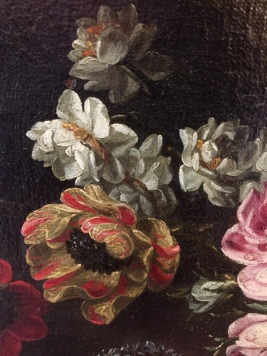 Antiquités - Margherita CAFFI (1647-1710) Still lifes flowers
