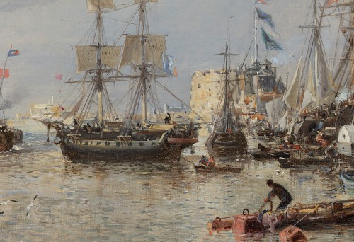 19th century - Jules Achille NOËL (Quimper 1810-1881 Alger) View of Le Havre 1872