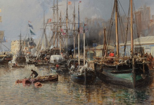 Jules Achille NOËL (Quimper 1810-1881 Alger) View of Le Havre 1872 - Napoléon III