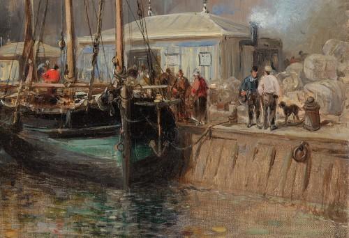 Napoléon III - Jules Achille NOËL (Quimper 1810-1881 Alger) View of Le Havre 1872