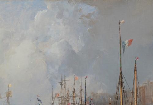 Antiquités - Jules Achille NOËL (Quimper 1810-1881 Alger) View of Le Havre 1872