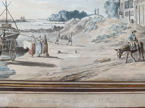 PÉRIGNON Nicolas (Nançy 1727-1782 Paris) - Views from banks of Seine -
