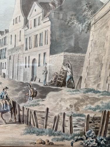 18th century - PÉRIGNON Nicolas (Nançy 1727-1782 Paris) - Views from banks of Seine