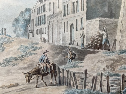 PÉRIGNON Nicolas (Nançy 1727-1782 Paris) - Views from banks of Seine - Louis XV
