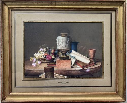 Jean-Louis Prévost, le Jeune (Nointel vers 1760-après 1810)                 - Paintings & Drawings Style Louis XVI
