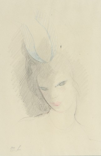 Marie Laurencin (1883-1956) - Girl with a blue hat