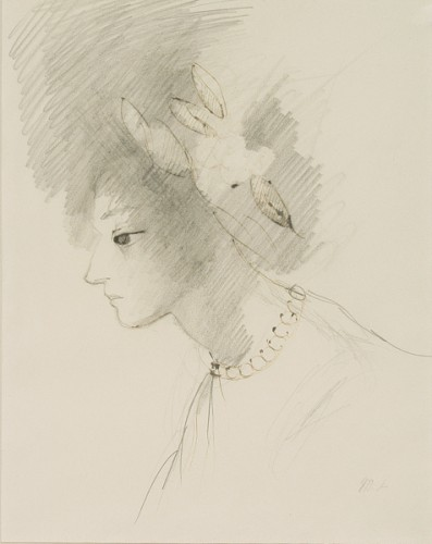 Marie Laurencin (1885-1956), -Head of young girl with string of pearls