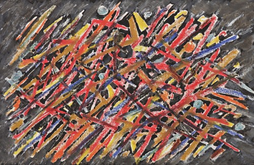 Jacques Germain (1915-2001) - Composition on black background