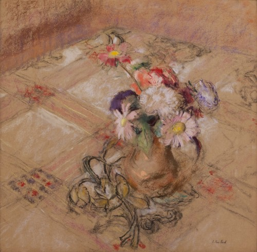 Édouard Vuillard (1868-1940) - N°XI-36 Zinnias on the table in Vaucresson