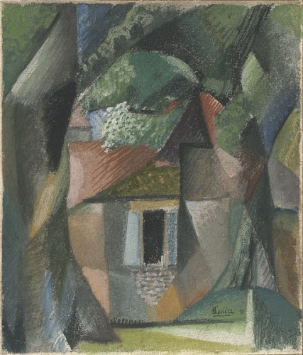 House in the woods - Roger Bissière (1886-1694)
