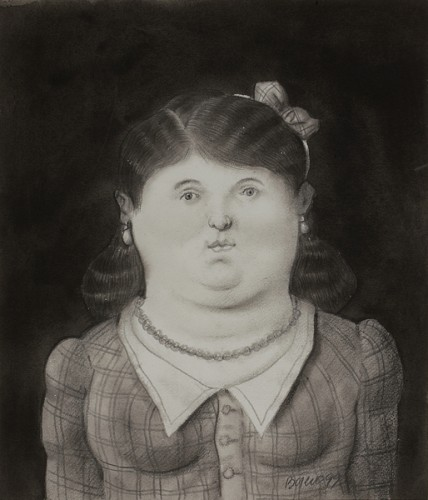 Woman with pearl necklace- Botero 99