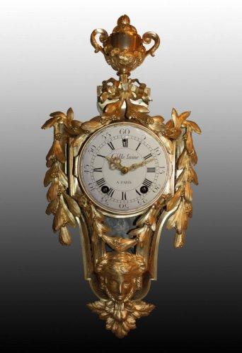 Clocks  - A louis xvi cartel clock by lainé à paris