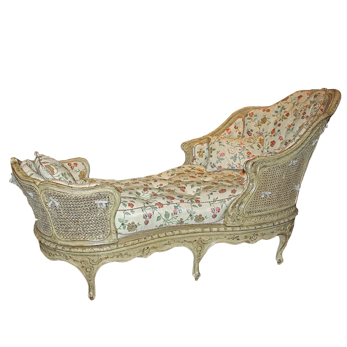 chaise longue cann e louis xv xviiie si cle. Black Bedroom Furniture Sets. Home Design Ideas
