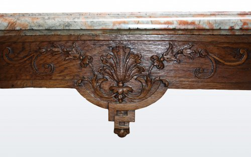 "A Louis XIV oak-wood console table ""aux mascarons"" - Louis XIV"