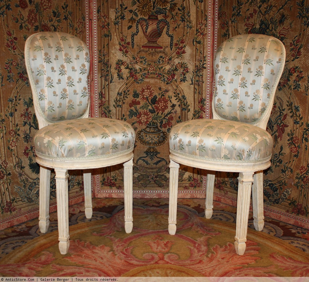 Rare pair of louis xvi chaises de musicien for Chaises louis xvi occasion