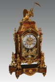Exceptional Louis XIV allegorical clock in Boulle marquetry