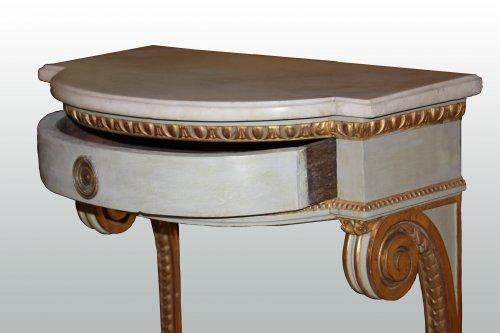 A pair of Louis XVI consoles - Louis XVI