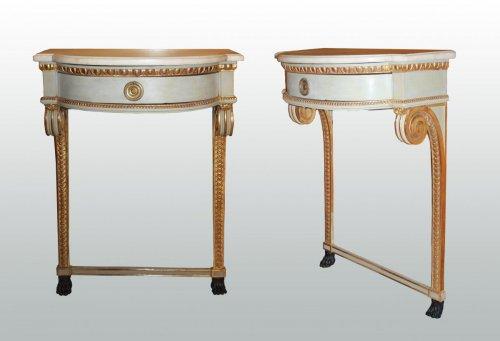 Louis XVI - A pair of Louis XVI consoles
