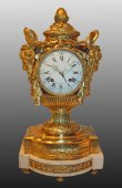 "Exceptional louis xvi ""au vase"" mantel clock by robert osmond"