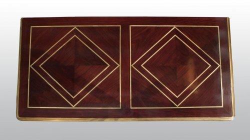 A Louis XIV ormolu-mounted amaranth Bureau de Changeur - Furniture Style Louis XIV
