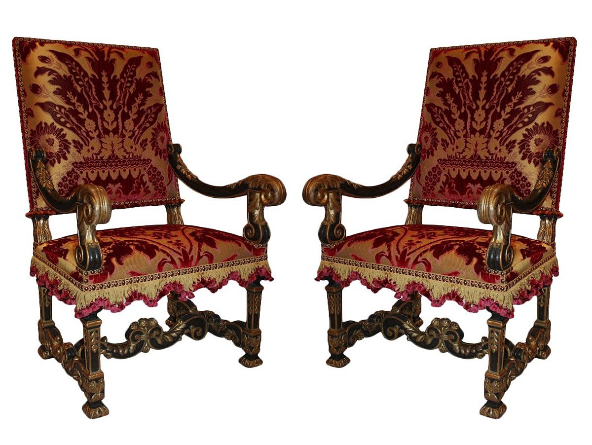 a pair of louis xiv fauteuils. Black Bedroom Furniture Sets. Home Design Ideas
