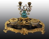 A rare and fine louis xv inkstand