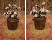 A pair of louis xv bouquets of flowers