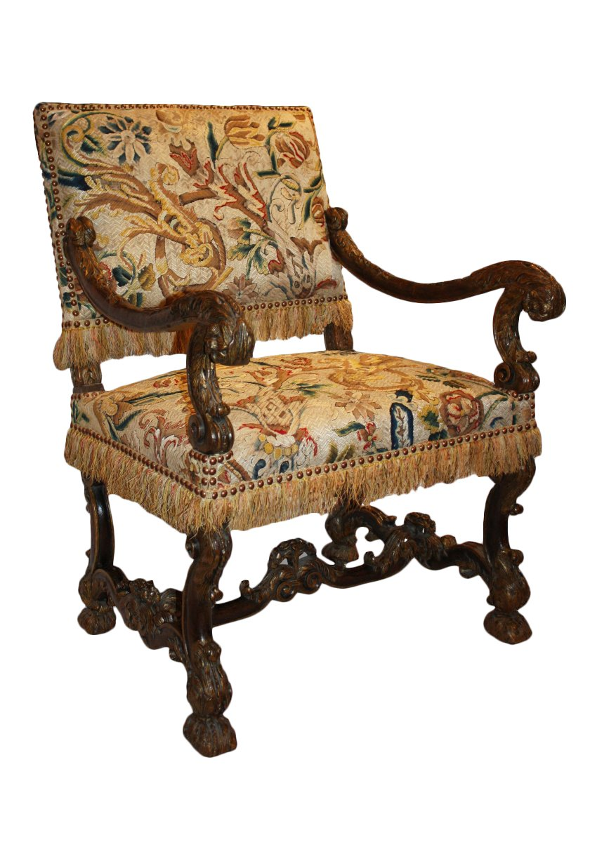 a fine louis xiv fauteuil d 39 apparat. Black Bedroom Furniture Sets. Home Design Ideas
