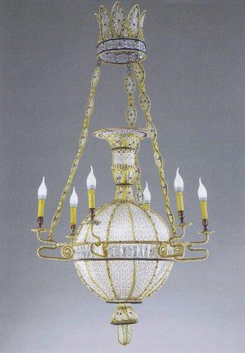 """Exceptional pair of """"à la montgolfière"""" chandeliers - Lighting Style"""