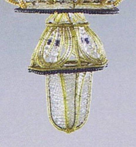"""Exceptional pair of """"à la montgolfière"""" chandeliers -"""