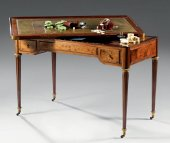 A louis xvi table trictrac by jean-henri riesener
