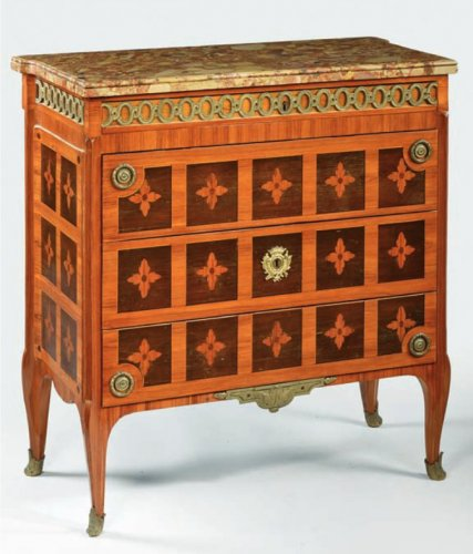 A late Louis XV Commode by Claude-Charles Saunier