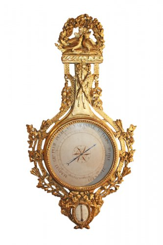 A Louis XVI Barometer-Thermometer by Sormany
