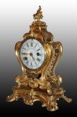 Beautiful Louis XV mantel Clock by Charles Dutertre