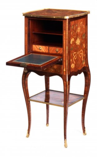 Small Transitional Secretaire de Dame attributed to Charles Chevallier - Furniture Style Transition