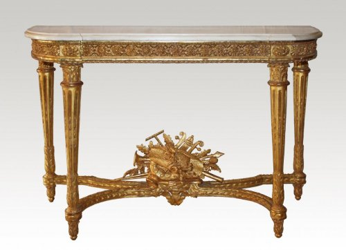 A Louis XVI giltwood Console Table attributed to Georges Jacob -