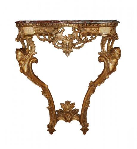 """A Regence giltwood Console Table """"aux Espagnolettes"""""""