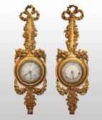 A pair of Louis XVI Barometer-Thermometer by Pellerin à Paris