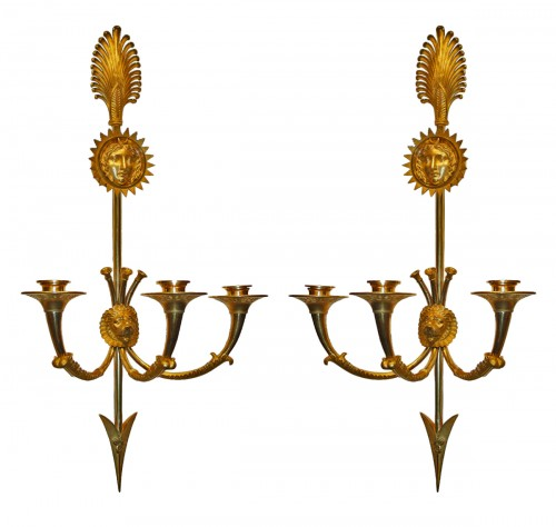A pair of Empire Wall-Lights by Claude Galle