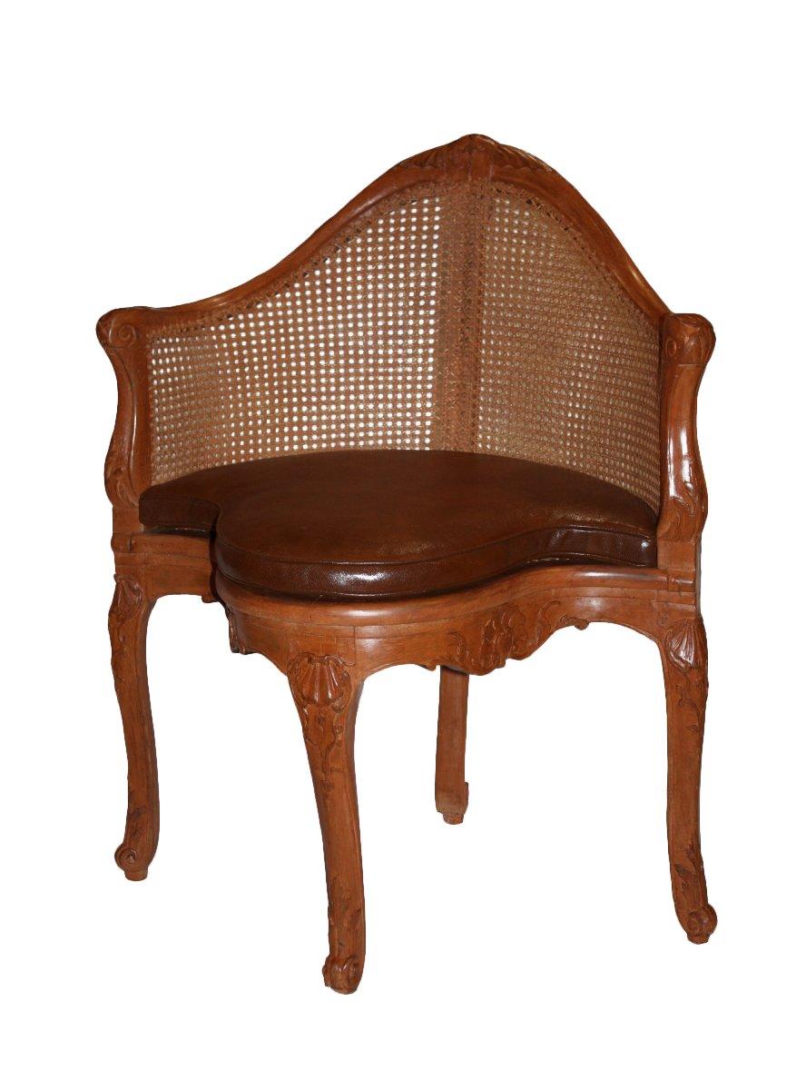 a louis xv fauteuil de bureau by pierre iv migeon. Black Bedroom Furniture Sets. Home Design Ideas