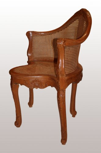 A Louis XV Fauteuil de Bureau by Pierre IV Migeon - Seating Style Louis XV